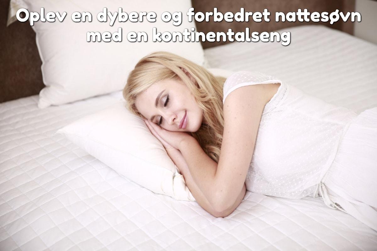 Oplev en dybere og forbedret nattesøvn med en kontinentalseng