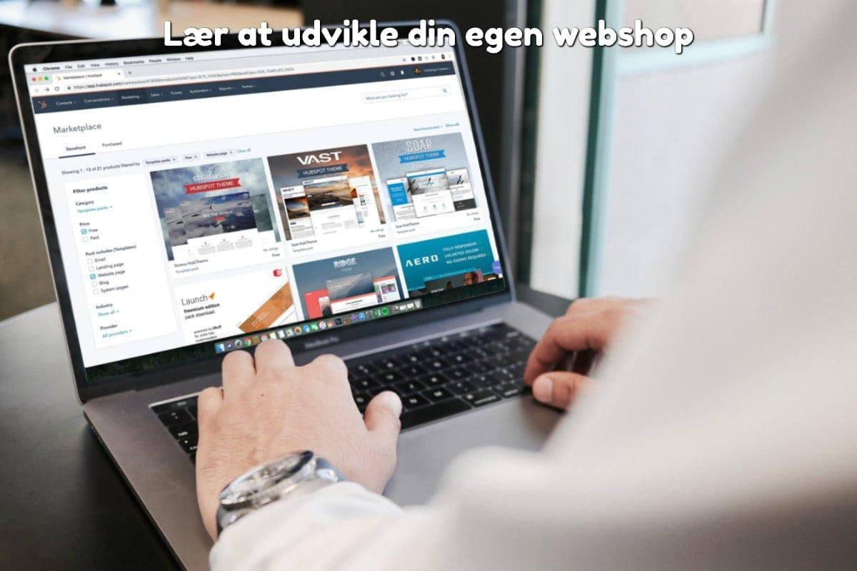 Lær at udvikle din egen webshop